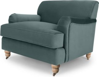 An Image of Orson Armchair, Marine Green Velvet