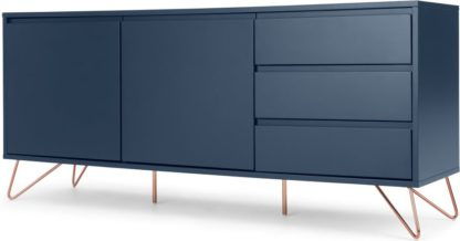 An Image of Elona sideboard, dark blue and copper