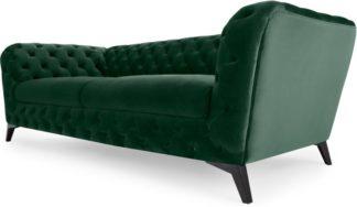 An Image of Sloan 3 Seater Sofa, Pine Green Velvet
