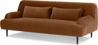 An Image of Giselle 2 Seater Sofa, Cinnamon Velvet