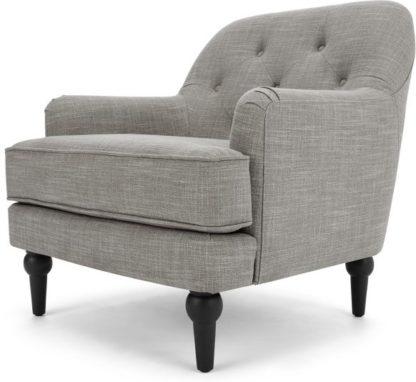 An Image of Flynn Armchair, Grey Linen Mix