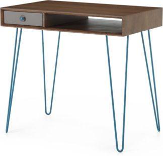 An Image of Dotty Desk, Dark Stain Oak & Grey