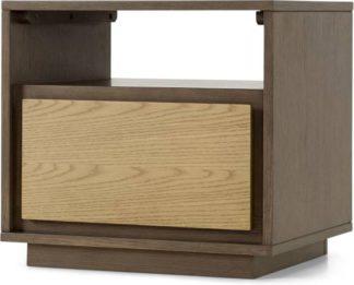 An Image of Arbery Bedside Table, Oak Veneer