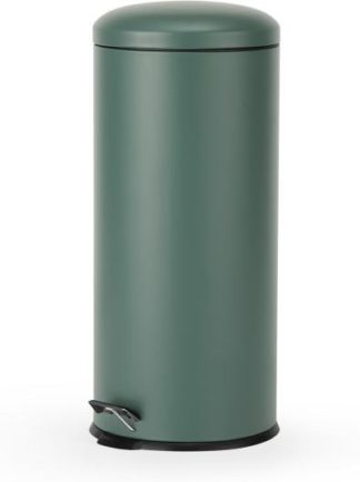 An Image of Joss 30L Domed Pedal Bin, Green