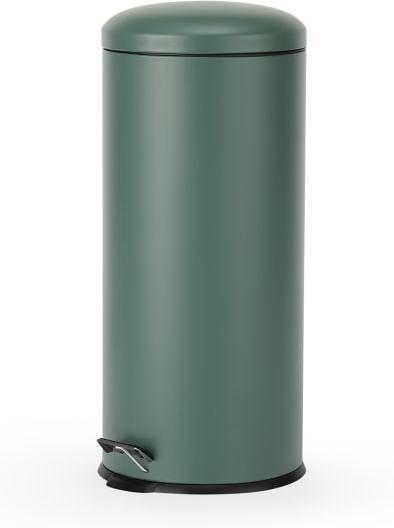 An Image of Joss 30L Domed Pedal Bin, Green