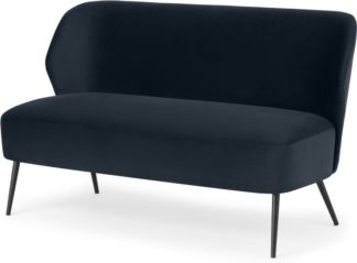 An Image of Topeka 2 Seater Sofa, Twilight Blue Velvet