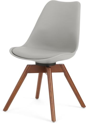An Image of Thelma office chair, Dark stain oak and Grey
