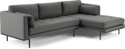 An Image of Harlow Right Hand Facing Chaise End Sofa, Elite Grey