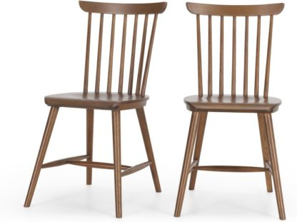 An Image of Set of 2 Deauville Dining Chairs, Dark stain Oak