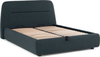 An Image of Fosse King Size Ottoman Storage Bed, Aegean Blue