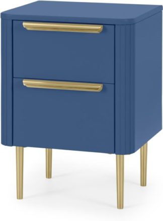 An Image of Ebro Bedside Table, Blue