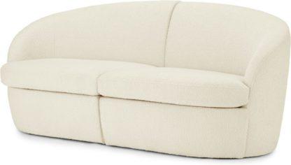 An Image of Reisa 2 Seater Sofa, Whitewash Boucle