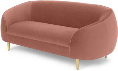 An Image of Trudy 2 Seater Sofa, Blush Pink Velvet