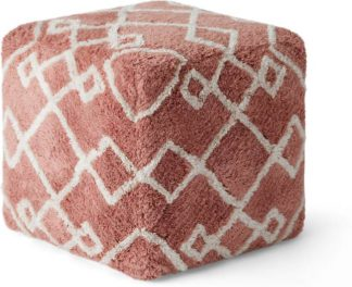 An Image of Fes Pouffe, Rose Pink
