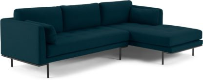 An Image of Harlow Right Hand Facing Chaise End Sofa, Elite Teal