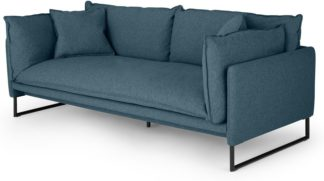 An Image of Malini 3 Seater Sofa, Orleans Blue