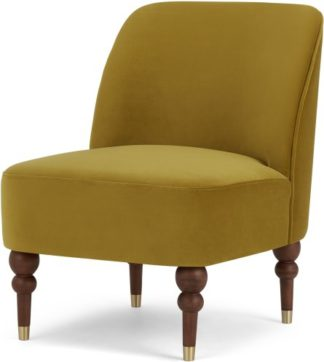 An Image of Harpo Accent Chair, Vintage Gold Velvet