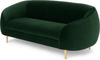 An Image of Trudy 2 Seater Sofa, Pine Green Velvet