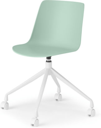 An Image of MADE Essentials Newel Office Chair, Mint