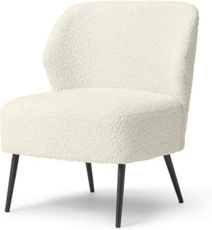 An Image of Topeka Accent Armchair, Faux Sheepskin