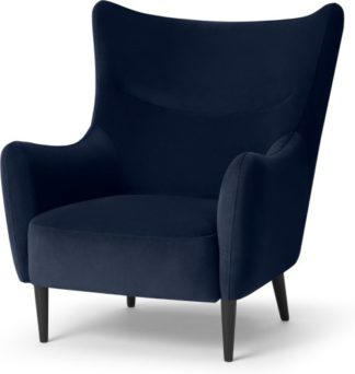 An Image of Bridget Accent Armchair, Ink Blue Velvet