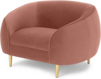 An Image of Trudy Armchair, Blush Pink Velvet