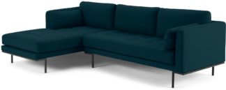 An Image of Harlow Left Hand Facing Chaise End Sofa, Elite Teal