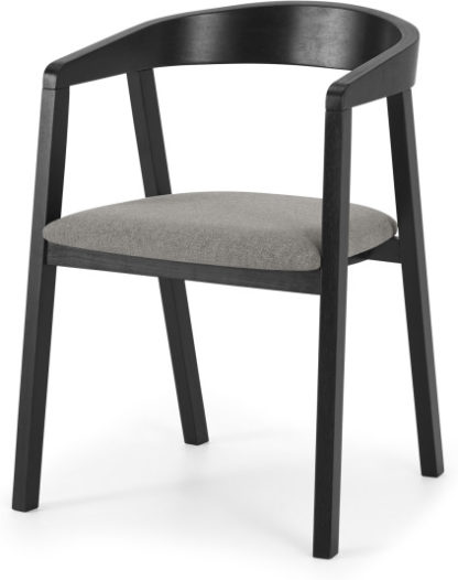 An Image of Placido Carver Dining Chair, Black & Cool Grey