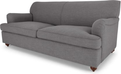 An Image of Orson 3 Seater Sofa Bed, Graphite Grey