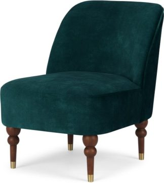 An Image of Harpo Accent Armchair, Nile Blue Velvet