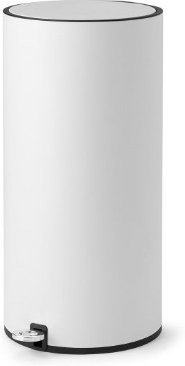 An Image of Volda 25L Pedal Bin, White