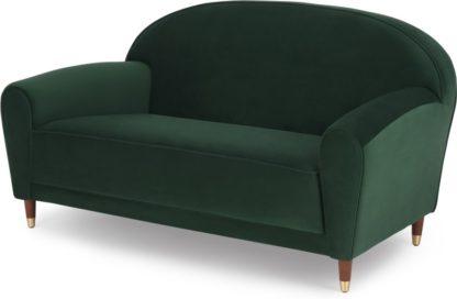 An Image of Carlton 2 Seater Sofa, Laurel Green Velvet