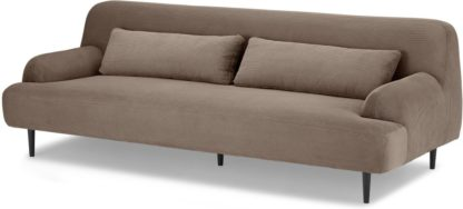 An Image of Giselle 3 Seater Sofa, Taupe Corduroy Velvet