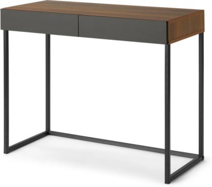 An Image of Hopkins Compact Desk, Walnut Effect & Grey