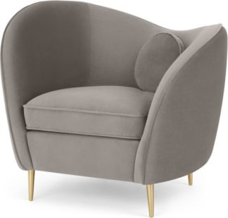 An Image of Kooper Accent Armchair, Alaska Grey Velvet