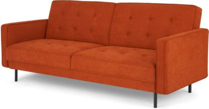 An Image of Rosslyn Click Clack Sofa Bed, Sedona Orange
