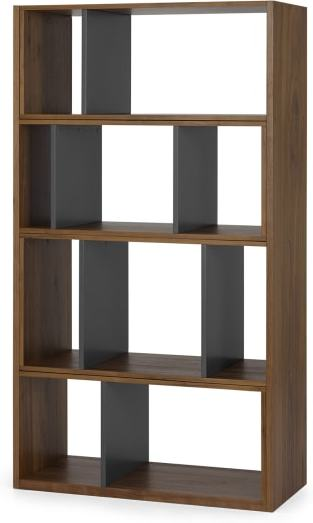 An Image of Kya Extending Shelves, Walnut and Grey