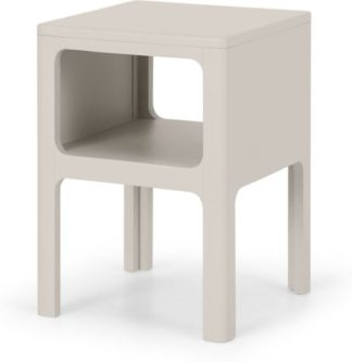 An Image of Bromley Bedside Table, Warm Grey