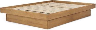 An Image of Meiko King Size Platform Bed with Drawer Storage, Pine