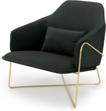 An Image of Stanley Accent Armchair, Dark Anthracite Velvet