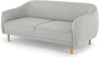 An Image of Haring 3 Seater Sofa, Silver Grey