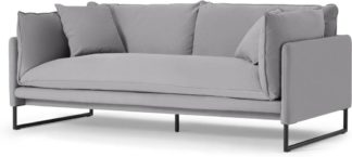 An Image of Malini 3 Seater Sofa, Mineral Cotton & Linen Mix
