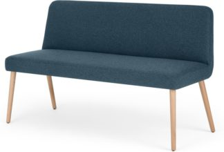 An Image of MADE Essentials Adams Dining Bench, Orleans Blue