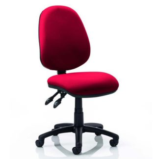 An Image of Luna II Office Chair In Bergamot Cherry