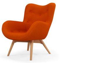 An Image of Custom MADE Doris Accent Armchair, Shetland Orange
