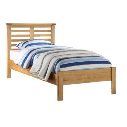 An Image of Tertia Wooden Single Bed In Oak