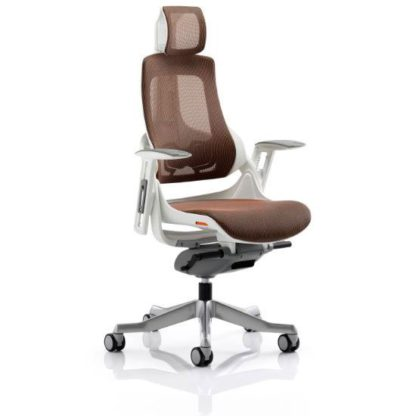 An Image of Zeta Executive Office Chair In Mandarin Mesh