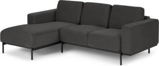 An Image of Jarrod Left Hand Facing Chaise End Corner Sofa, Plush Asphalt Velvet