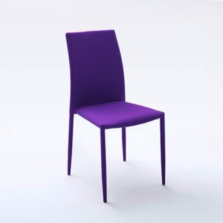 An Image of Mila Upholstered Violet Dining Chair