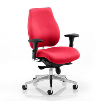 An Image of Chiro Plus Office Chair In Bergamot Cherry With Arms